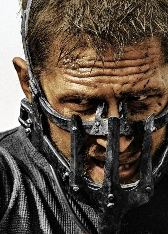Tom Hardy in Mad Max: Fury Road. This close-up has potential as a magazine…