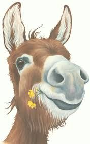 Image result for painting donkey