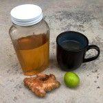 Té de jengibre, miel y limón