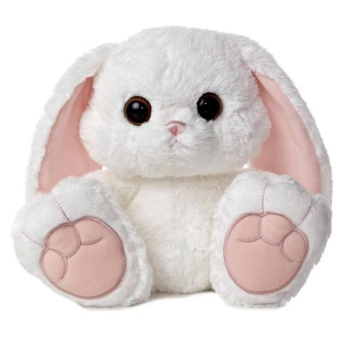 Stuffed Animal Toys : Quot aurora plush whte bunny rabbit taddle toes easter