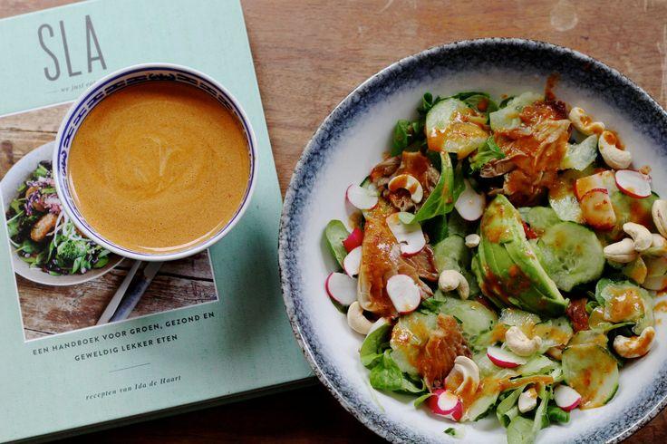 Thaise salade met heerlijke dressing uit kookboek SLA