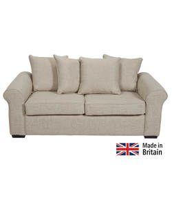 Erinne Fabric Pillowback Sofa Bed - Linen.