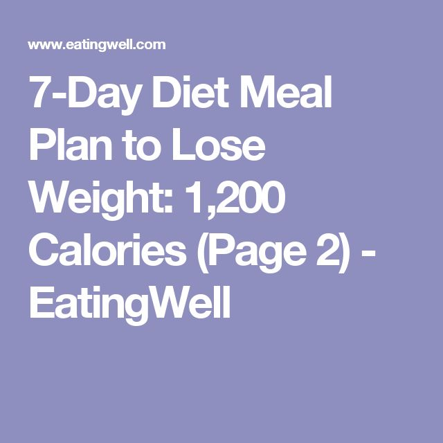 7-Day Diet Meal Plan to Lose Weight: 1,200 Calories (Page ...
