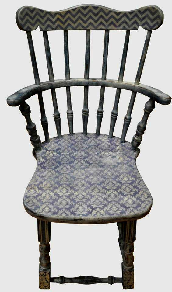 decoupage vintage armchair, shabby chic