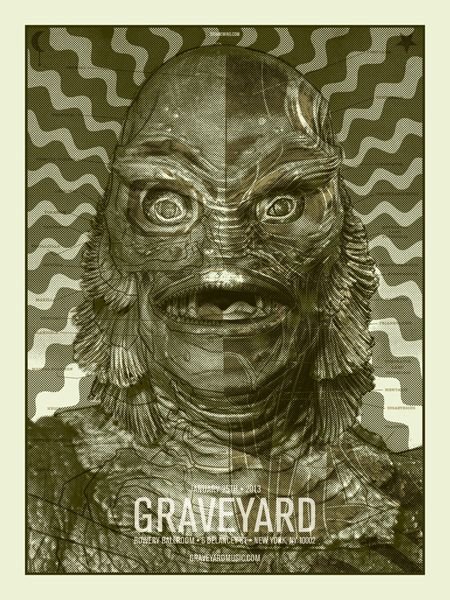 Graveyard Gig Poster by Brian Ewing