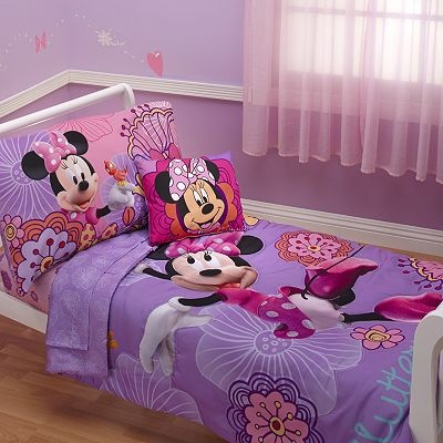 Disney Mickey Mouse & Friends 4-pc. Minnie Mouse Bed Set by Crown Crafts - Toddler