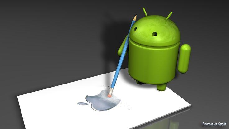android erase apple logo wallpaper