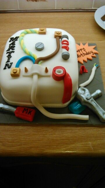 40th Birthday Electrician Cake