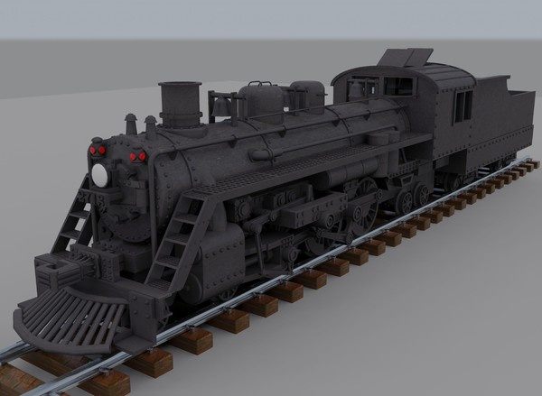 CGI - $15 - 3d model steam locomotive - Steam Train... by mvcomputers