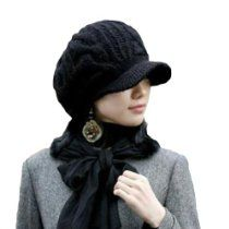 Women Girl Slouchy Knit Beanie Winter Newsboy Snow Hat