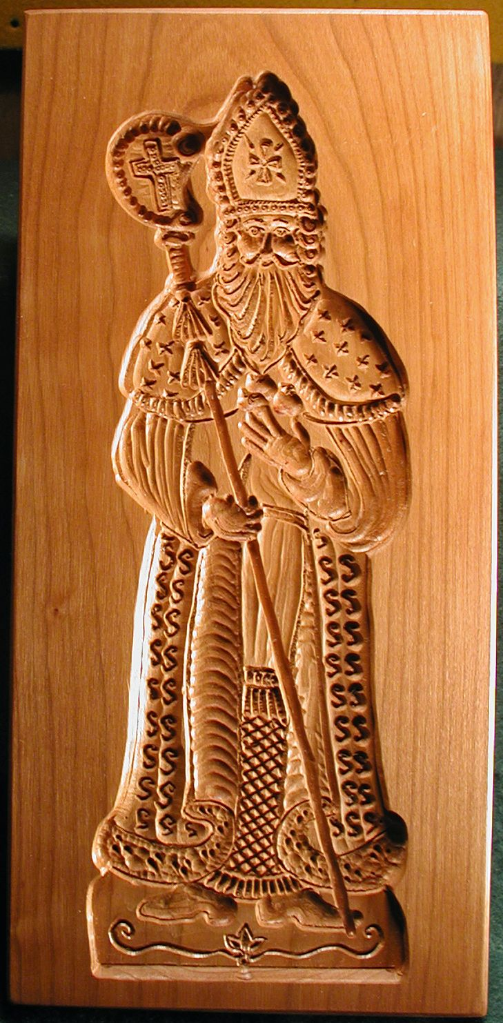 Gene Wilson's hand-carved St Nicholas Cookie mold