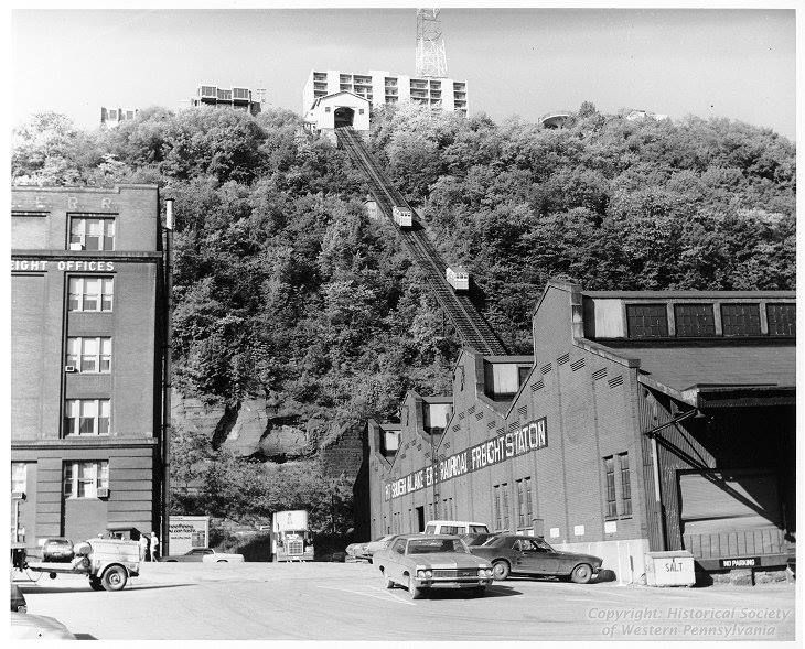 This Day in Pittsburgh History | May 28, 1870: The Monongahela Incline opens.     Image: Monongahela Incline, ca. 1965-1975, Allegheny Conference on Community Development Photographs, 1892-1981, MSP 285, Library & Archives, Senator John Heinz History Center