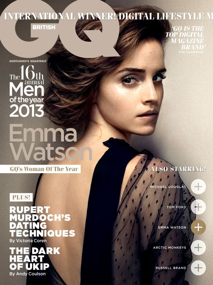 Emma Watson by Vincent Peters for GQ UK October 2013