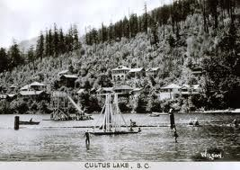 Old photo of Cultus Lake Main Beach