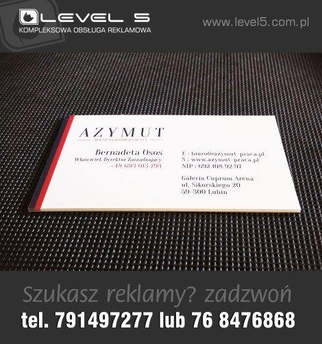 Karty biznesowe i wizytówki - LEVEL 5 Lubin - telefon 791 49 72 77