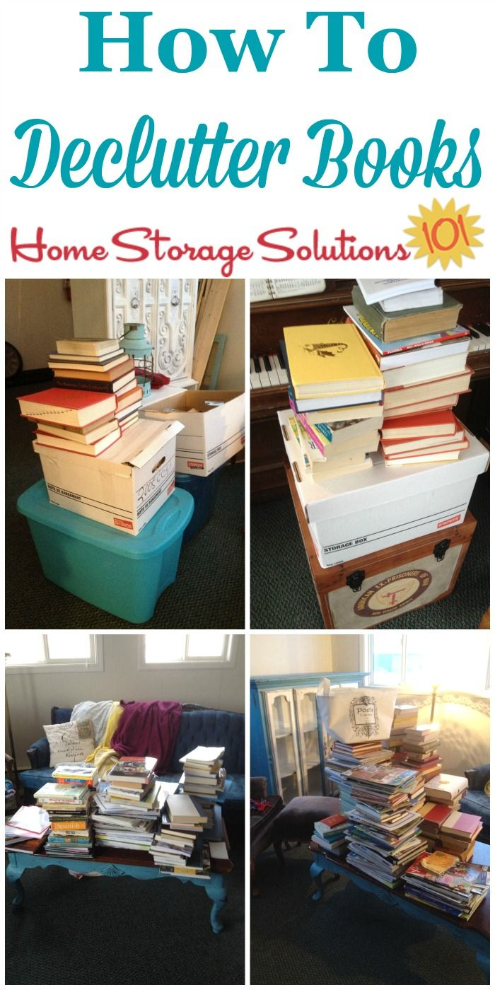 How to declutter books from your home