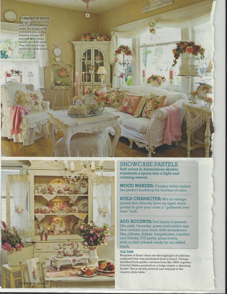 bob cindy ellis 39 s lovely home featured in romantic country magazine shabby cottage. Black Bedroom Furniture Sets. Home Design Ideas