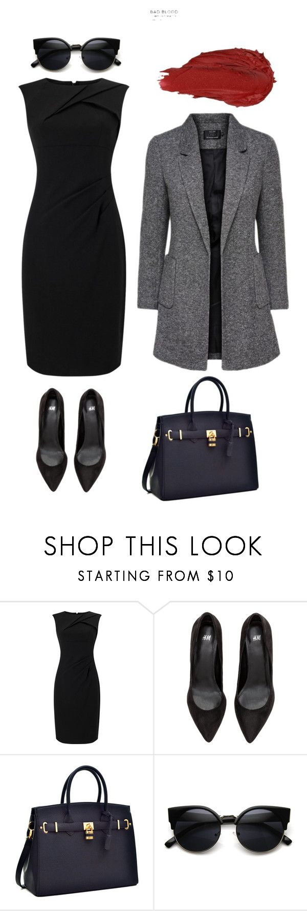 """Look 2 - WILSONS"" by kirravanblanken on Polyvore featuring Adrianna Papell and Urban Decay"