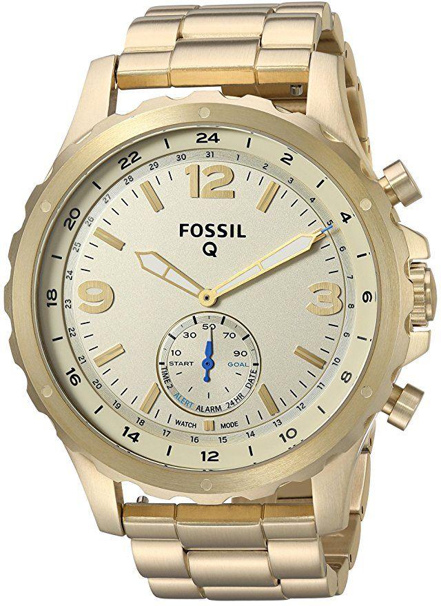 Fossil Q Hybrid Smartwatch Men's Nate Gold