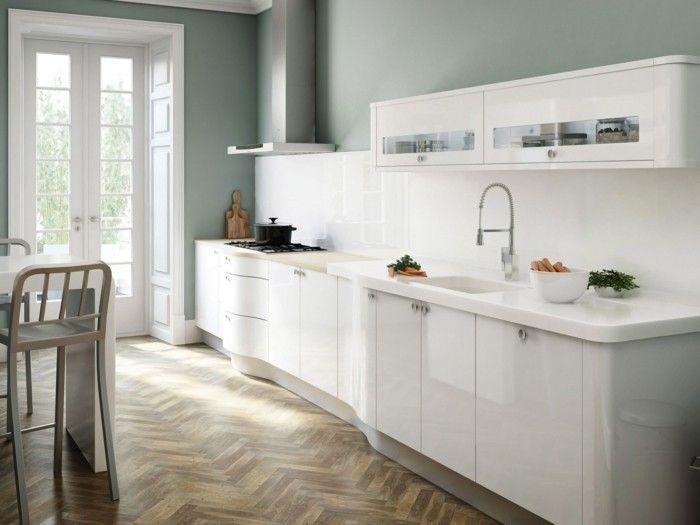 17 Best images about cuisine on Pinterest Plan de travail, Cuisine - cuisine blanc laque plan travail bois