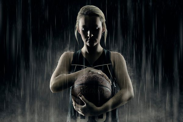 High School Senior - Sports Enhancement Session, Basketball in the rain  Joshua Hanna Photography Cross Lanes, WV