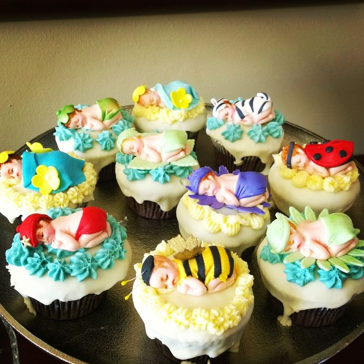 Baby shower cupcakes - by Bridget