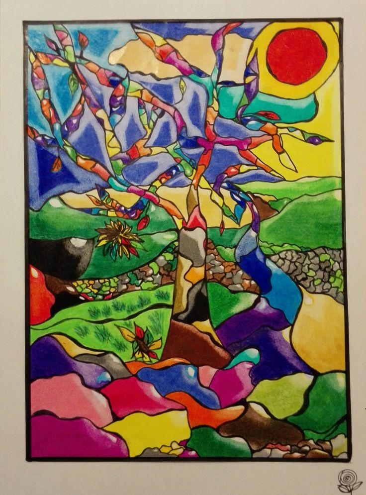 """#CAMPITURE quinta elementare, lavorazione a """"stellina"""" #pastelli a matita #arte #disegni #bambini #istruzione"""