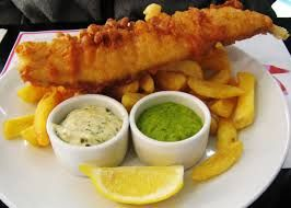 Recipe: http://allrecipes.com/recipe/classic-fish-and-chips/ Fish and Chips originally originated in Britain but is very popular to be eaten in Scotland with many different restaurants serving their own variation.