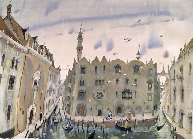 Watercolors by Alex Votsmush Russian Artist(1)