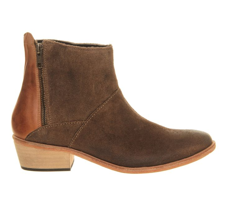H by Hudson Fop Ankle Boot Beige Suede - Ankle Boots
