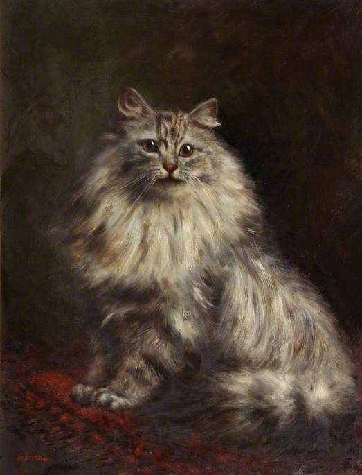 Agnes Augusta Talboys (1863-1941) - Study of a Persian Cat