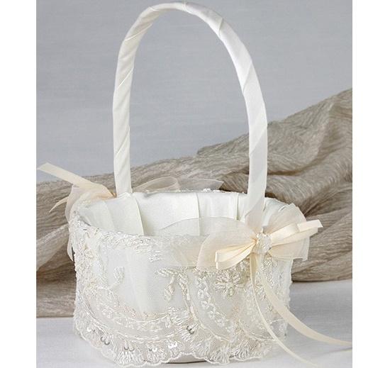 Victorian Flower Girl Basket