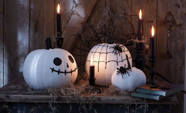 Halloween-Kürbis basteln