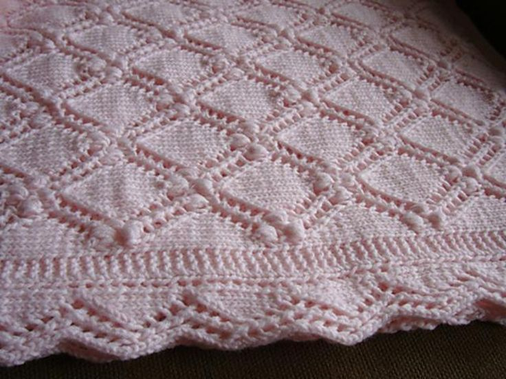 The 285 best Blanket Patterns images on Pinterest | Baby knitting ...