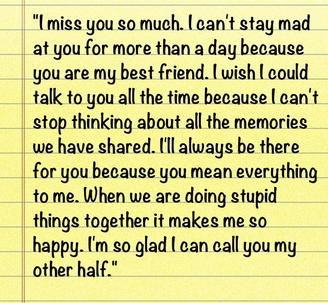 """Wish We Could Spend More Time Together Quotes: """"I Miss You So Much. I Can't Stay Mad At You For More Than"""