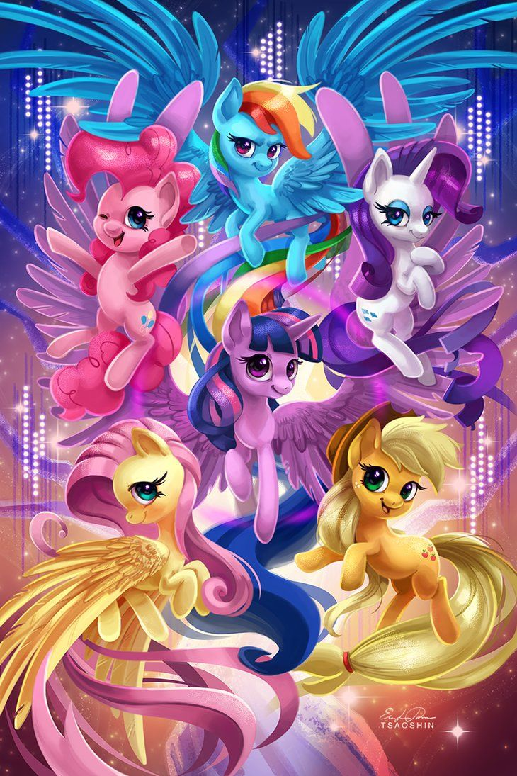 Image pinkie pie and fluttershy flying png my little pony fan - Mane 6 My Little Pony