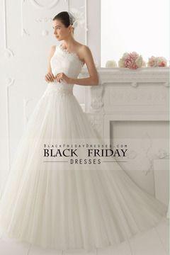 2014 de un hombro vestido plisado blusa una línea de novia con apliques USD 219.99 BFP18822KN - BlackFridayDresses.com