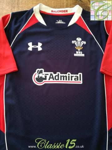 Official Under Armour Wales away rugby shirt from the 2010/11 international season.