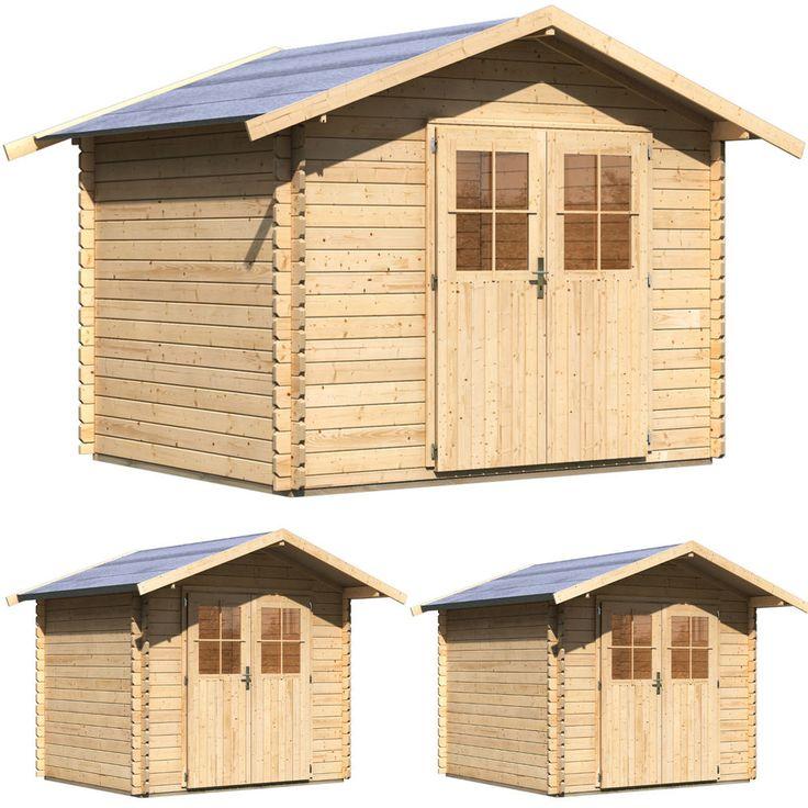 Gartenhaus 28 mm Holzhaus Gerätehaus Blockbohlenhaus Schuppen Holz 3 Größen