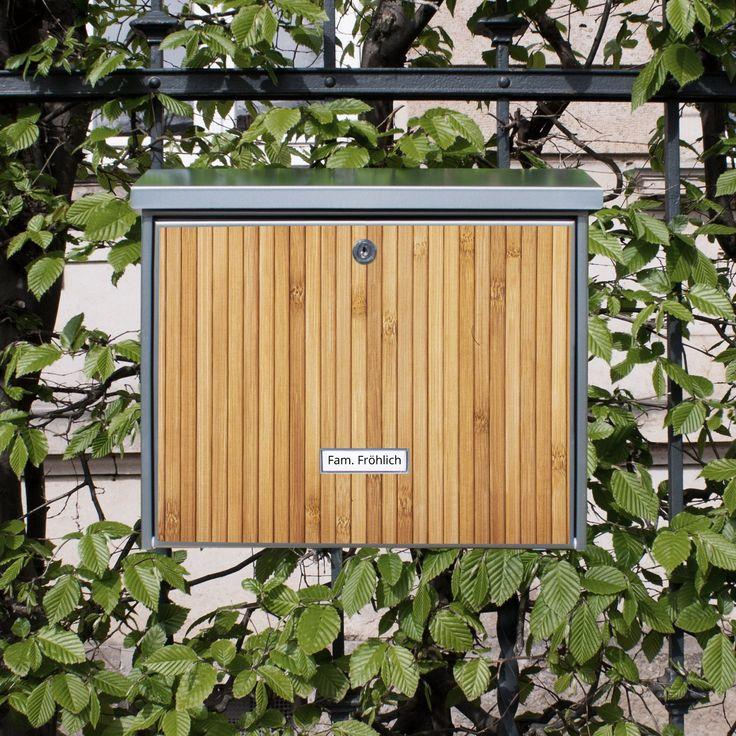 Burg-Wächter Briefkasten aus Edelstahl mit Namensschild und Motiv: Bambusholz: Amazon.de: Küche & Haushalt