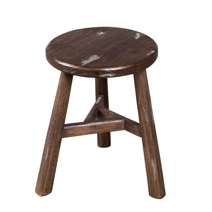 Farmhouse Dining Stool - Notched Sable and Vintage Ivory