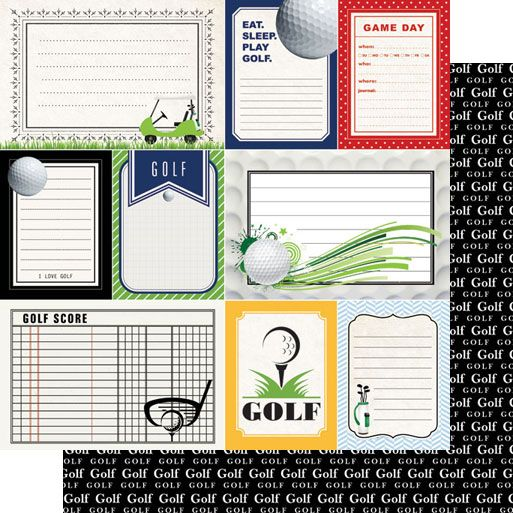 17  images about paper   scrapbooking   golf on pinterest