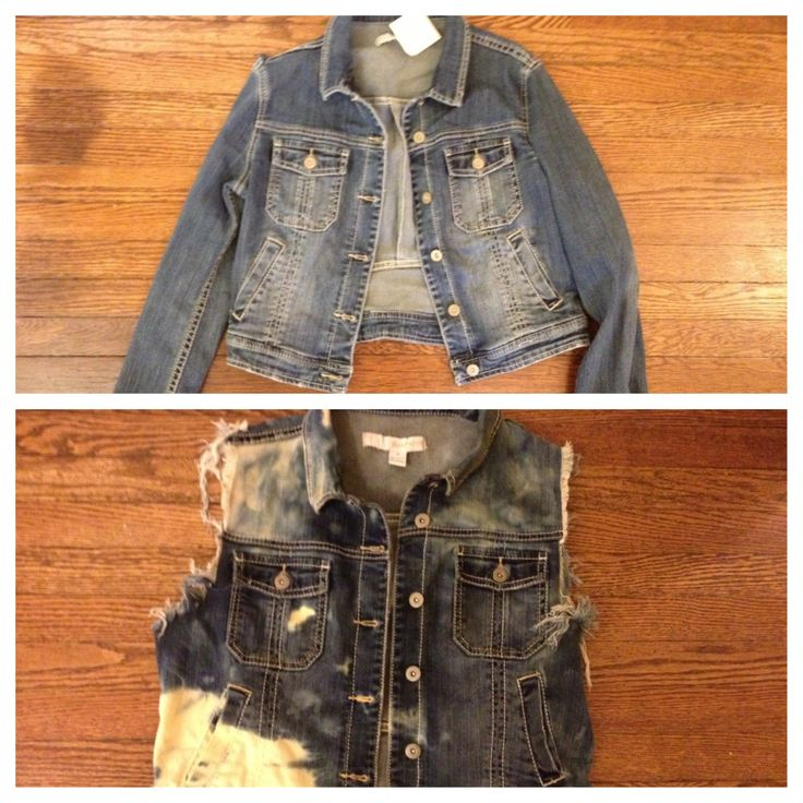 Upcycling a thrift store denim jacket for fall #upcycle #fashion #fallfashion