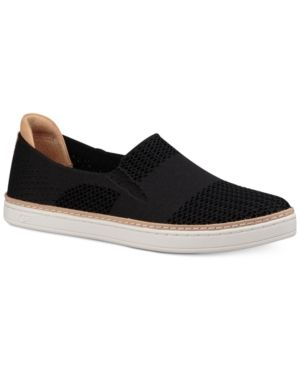 Casual style gets an updated look in the soft knit design and cushioning features on these effortlessly stylish Sammy sneakers from Ugg. | Leather/fabric upper; rubber sole | Imported | Round-toe slip