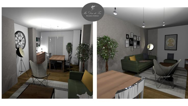 Planche d\u0027ambiance chambre, style bohème Projet 3D Maison type