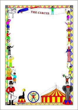 """A4tje (staand, liggend) met een """"circusrand"""". Voor een verhaal of uitnodiging?"""