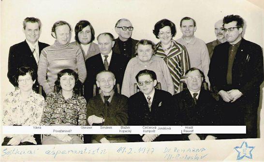 Esperantisté z Jablonce a Ml. Boleslavi - 1977