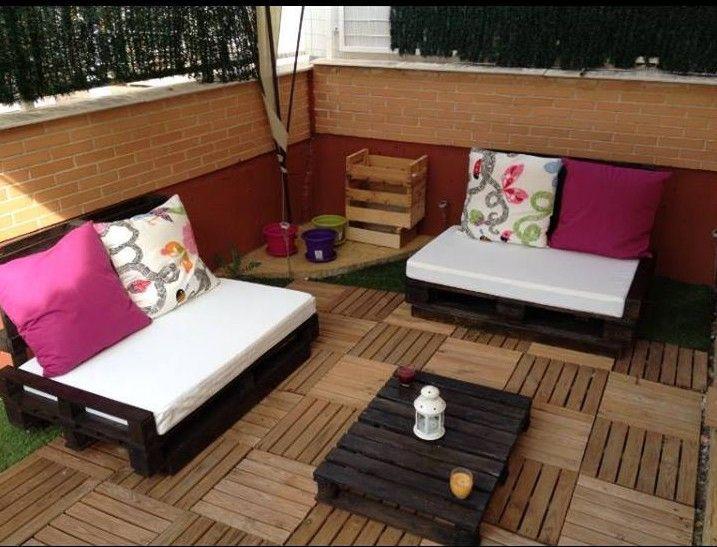 Ideas con palets: terraza exterior 2