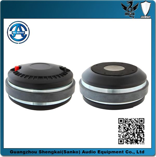 """RCF tweeter, hifi driver, compression driver, RCF transducer, N850 high frequency speaker driver.  """"Throat Diameter: 35.4 mm   Frequency Range: 800-18000Hz Rated Impedance:8Ω   Voice Coil Diameter:44 mm Voice Coil Material:CCAR Power  Capacity:60W   Sensitivity (1w/1m):110 dB Magnetic Dimension::120*50*20mm                        G.W:2.33kg                          Packing size::120*120*71mm/1PCS"""""""