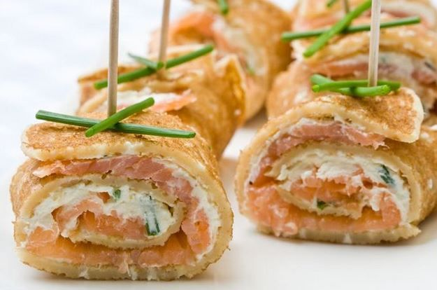 What do you think about 'Russian sushi'? It's easy to make (just use 'bliny'- pancakes) and you can make different kinds of rolls- with salmon and philadelphia cheese or a sweet version of rolls using fruits and jams. Happy Friday!